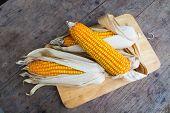 pic of corn-silk  - Organic dry brown corn - JPG