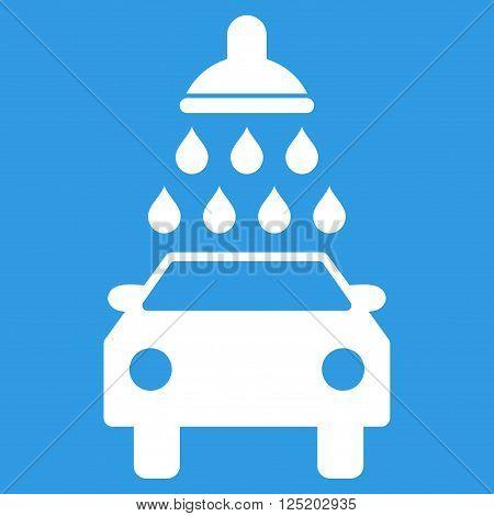 poster of Car Wash vector icon. Car Wash icon symbol. Car Wash icon image. Car Wash icon picture. Car Wash pictogram. Flat white car wash icon. Isolated car wash icon graphic. Car Wash icon illustration.