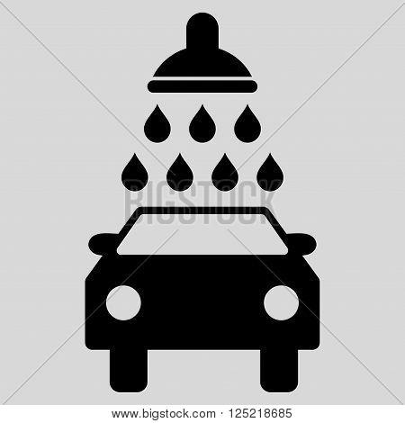 poster of Car Wash vector icon. Car Wash icon symbol. Car Wash icon image. Car Wash icon picture. Car Wash pictogram. Flat black car wash icon. Isolated car wash icon graphic. Car Wash icon illustration.