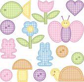 image of baby animal  - set of tags - JPG