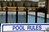Swimming pool rules pic.