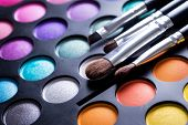 Make up borstels en make-up eye shadows