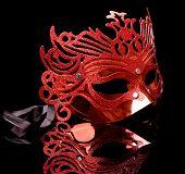 Постер, плакат: Карнавал маска изолированные на черном