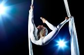picture of aerialist  - Young woman gymnast - JPG