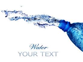 stock photo of bottle water  - Fresh Water Splashing Over White - JPG