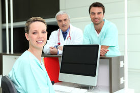 stock photo of medical assistant  - Medical Team - JPG