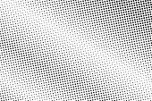 Black White Dotted Halftone Vector Background. Vignette Dotted Gradient. Minimalistic Halftone Pop A poster