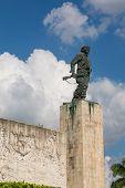Bronze Statue Of Ernesto Che Guevara At The Memorial And Mausoleum In Santa Clara, Cuba. poster