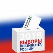 Elections Of The President Of Russia Vector Illustration. Day Of The Election Of The President Of Th poster