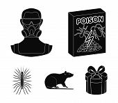 Staff, Packing With Poison And Pests Black Icons In Set Collection For Design.pest Control Service V poster