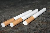 foto of marlboro  - Close up of cigarettes - JPG