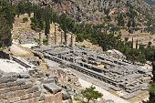 pic of oracle  - Temple of Apollo at Delphi oracle archaeological site in Greece - JPG