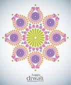stock photo of kolam  - Vector Diwali Kolam Patterns - JPG