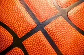 Close Up Detail Of Basketball Ball Texture Background poster