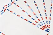 Classic Post Envelopes. Postal Blank Envelopes With Striped Frame. Simple Blank White Envelope Isola poster
