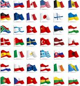 stock photo of usa flag  - Set of flags - JPG
