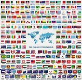 Vector Set Of All World Countries Flags (sovereign States, Dependent, Overseas Territories And Other poster