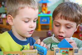 picture of children group  - the children in kindergarten plays with enthusiasm - JPG