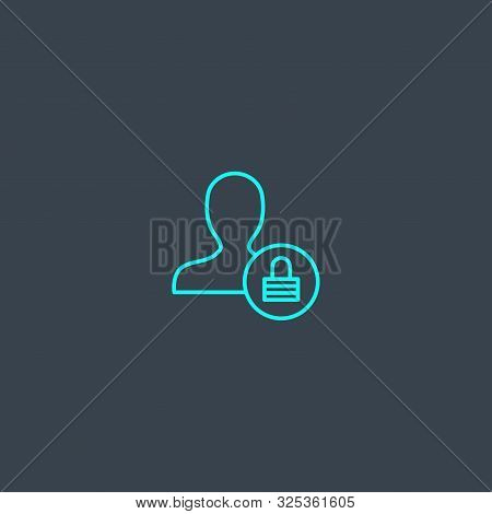 poster of User Authentication Concept Blue Line Icon. Simple Thin Element On Dark Background. User Authenticat