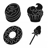 Vector Design Of Sweetness And Product Icon. Collection Of Sweetness And Sweet Vector Icon For Stock poster