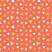 Seamless Pattern With Colorful Triangles Orange, White And Pink Triangles Pattern poster