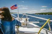 Boat Tours In The Heart Of Thousand Islands And The American Channel Is Very Popular With Americans  poster