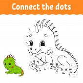 Dot To Dot. Draw A Line. Handwriting Practice. Learning Numbers For Kids. Education Developing Works poster