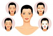 Anti aging treatment and plastic surgery concept. Spa facial Massage. Face Massage in beauty spa sal poster