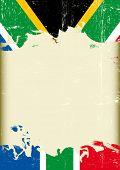 stock photo of afrikaner  - Grunge south Africa flag - JPG