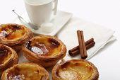 stock photo of pasteis  - traditional portuguese cakes  - JPG