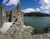 stock photo of dartmouth  - dartmouth castle on the estuary of the river dart devon - JPG