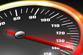 stock photo of mph  - Speedometer Abstract Background - JPG