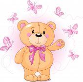 pic of teddy-bear  - Very cute Teddy Bear waiving hello - JPG