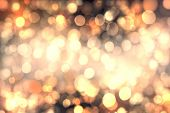 foto of snow border  - Abstract bokeh background of candlelights for Christmas - JPG