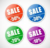 Sale stickers with perforation.