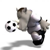Rhino Plays Soccer / Football