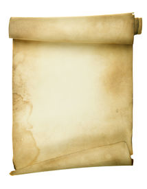 picture of scroll  - Ancient scroll isolated over a white background - JPG