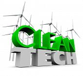 Clean Tech Windmills Turbine Farm Wind Power Energy