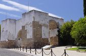 The Walls Of Old City In Faro, Algarve Capital, Portugal