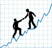 picture of profit  - Financial adviser or business mentor help team partner up to company profit growth - JPG