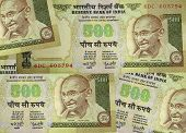 pic of mahatma gandhi  - Five hundred rupee notes - JPG