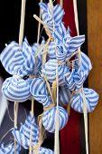 stock photo of sachets  - Dried lavender sachet bags - JPG