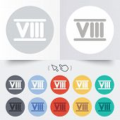 image of roman numerals  - Roman numeral eight sign icon - JPG