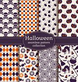 picture of purple white  - Set of halloween backgrounds - JPG