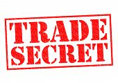 foto of trade  - TRADE SECRET red Rubber Stamp over a white background - JPG