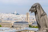 stock photo of gargoyles  - One of the gargoyles in Notre Dame Cathedral - JPG