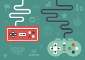 foto of alien  - Gaming controllers and game icons and symbol elements - JPG