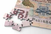 foto of pesos  - Mexican Pesos Puzzle  - JPG