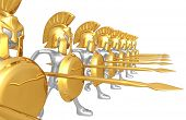 image of hoplite  - Spartan Phalanx - JPG