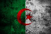 image of algiers  - grunge flag of Algeria with capital in Algiers - JPG